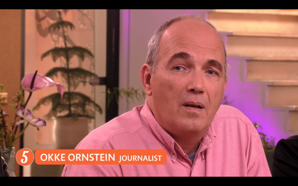 Okke Ornstein here in a screenshot from a Dutch TV talkshow.